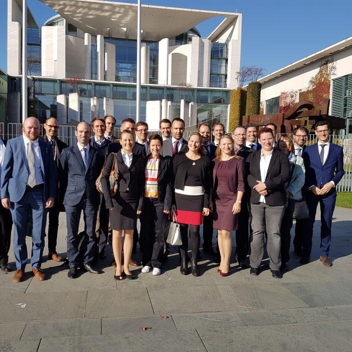Gruppenfoto der Kleinen Studienfahrt 2018 nach Berlin