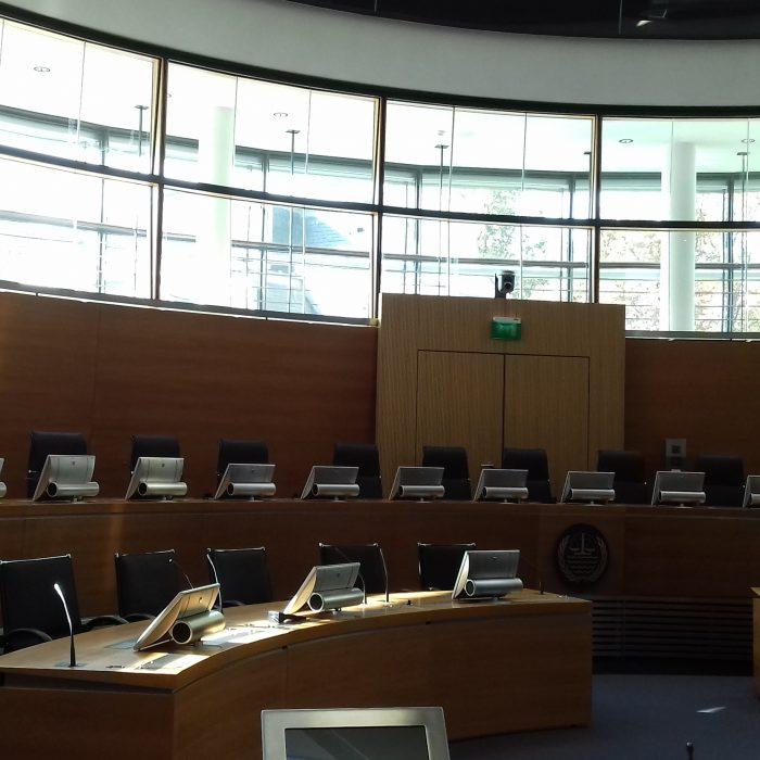 Sitzungssaal im Internationalen Seegerichtshof